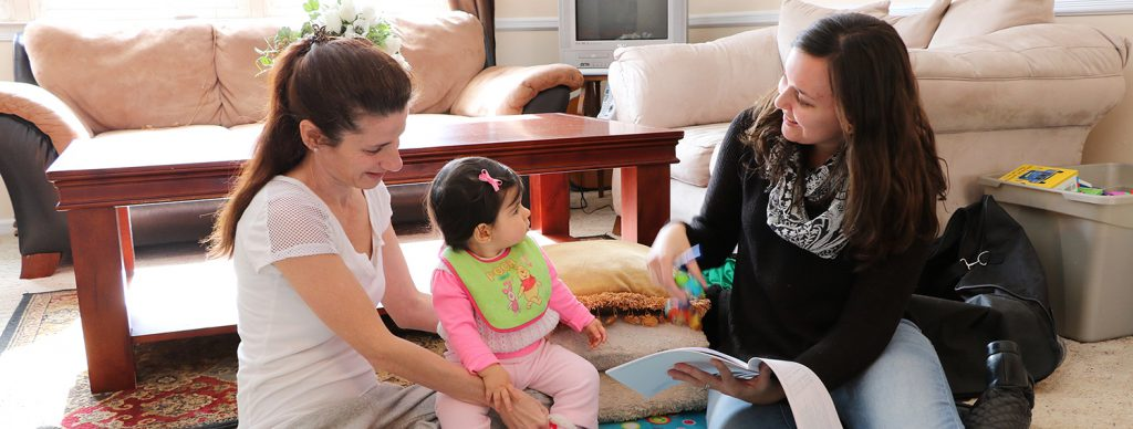 Graduate student conducts research for Early Head Start intervention